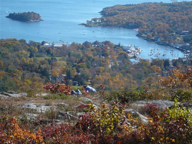 View of Camden from Mount Battie